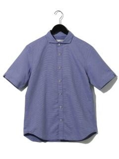 リバーシブルドビー パラシュートボタン半袖シャツ