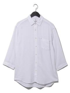 テック綿麻パナマ7分袖シャツ