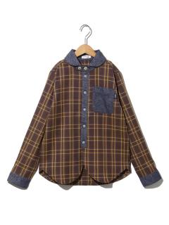 クレリックボタンダウンチェックシャツ