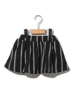 ストライプインナーパンツ付きスカート