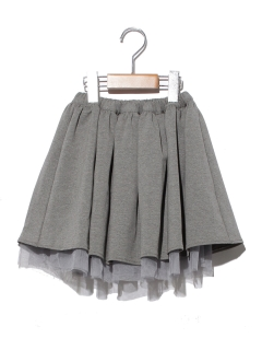 天竺×チュールリバーシブルスカート