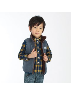 【ベビー】ビエラチェックマリンカラーシャツ