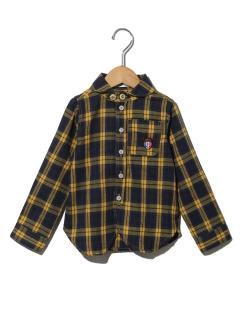 【キッズ】ビエラチェックマリンカラーシャツ