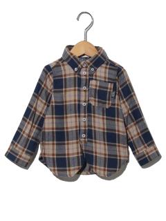 【ベビー】ビエラチェックボタンダウンシャツ
