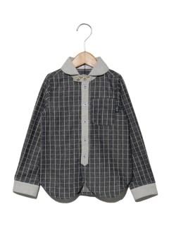 【キッズ】ボーダークレリックシャツ