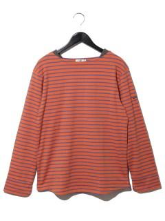 【メンズ】ボートネック2配ボーダーTシャツ