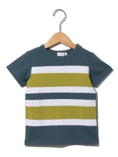 天竺切り替えボーダーTシャツ