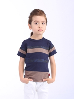 TAPPET切り替えボーダーTシャツ