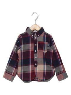TAPPETビエラチェックボタンダウンシャツ(ベビー)