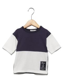 TAPPETバイカラー5分袖Tシャツ