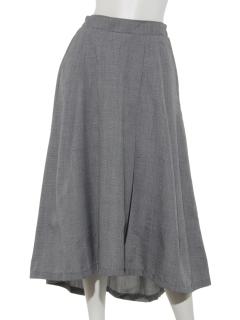 グレンチェックタックロングスカート