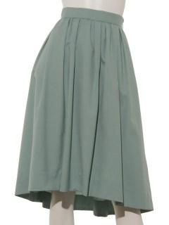 タックギャザーフンワリカラースカート