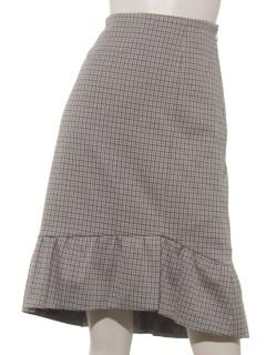 ガンクラブチェックジャガードスカート