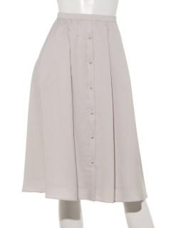 ポリエステルツイルフロントボタンタックフレアースカート