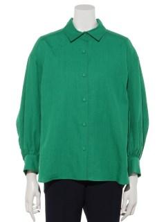 【Ele NATURAL BEAUTY】リネンボリュームスリーブシャツ