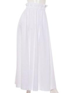 【Ele NATURAL BEAUTY】リネンツイルギャザーフレアースカート
