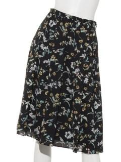 ボタニカルフラワーリバティプリントスカート