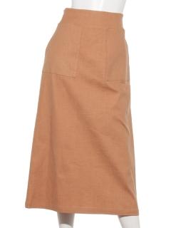 麻混スカート