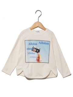 裾ラウンドフォトTシャツ