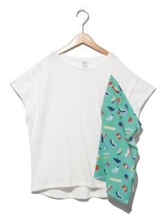 パピエティグルコラボドレープTシャツ