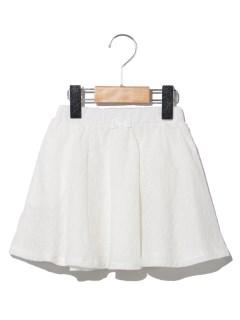 綿スカラップレーススカート
