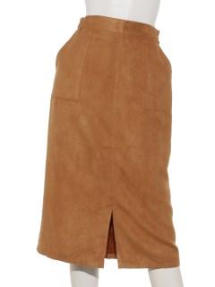 スウェードスカート