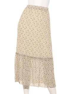 花柄しわプリーツスカート