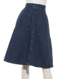 デニムベイカースカート