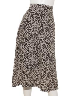 レオパードフレアスカート