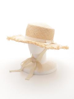 ラフィアフリンジカンカン帽