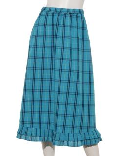 プリーツヘムAラインスカート