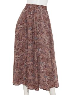 デシン花柄スカート