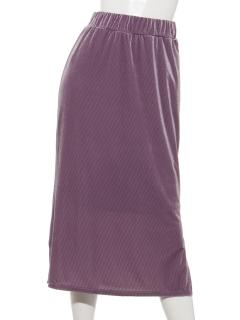 ベロアコール天スリットタイトスカート