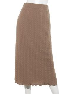 ケーブル柄サイドスリットタイトスカート