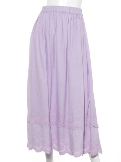 スカラップ刺繍ティアードスカート