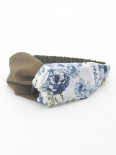 スカーフ柄ターバン
