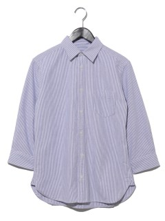 ストライプオックス7分袖シャツ