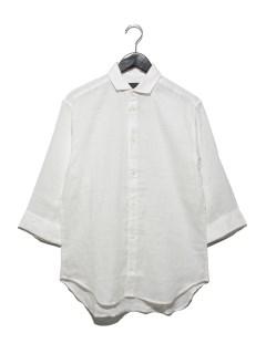 リネン7分袖シャツ