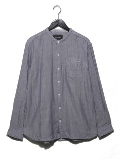 Wガーゼバンドカラーシャツ