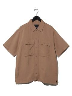 麻レーヨン半袖シャツ