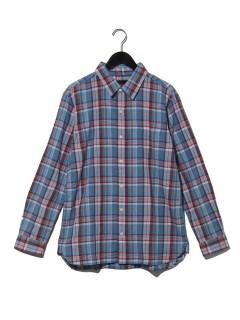 マドラスタイニーカラーシャツ