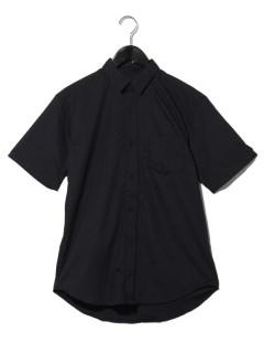 半袖ポプリンシャツ