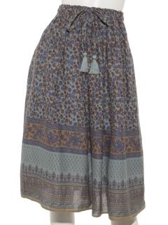 インドプリントスカート