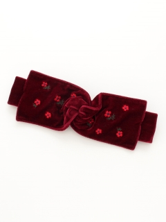ベロア刺繍ターバン