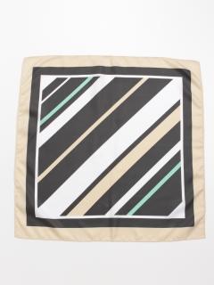 バイアスボーダー柄スカーフ