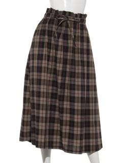 チェックギャザースカート