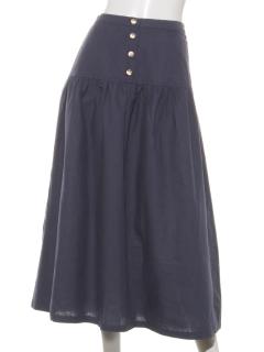 綿麻ティアードスカート