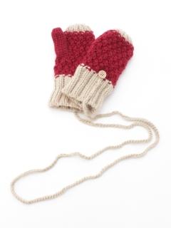 鹿の子編みミトン