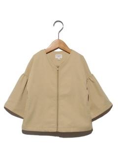 袖フリルジャケット