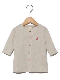 アンカー刺繍七分袖カーディガン